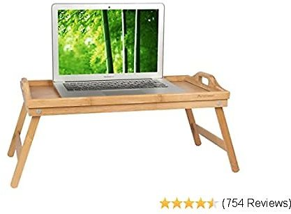 Bed Tray Table with Folding Legs,Serving Breakfast in Bed or Use As a TV Table, Laptop Computer Tray