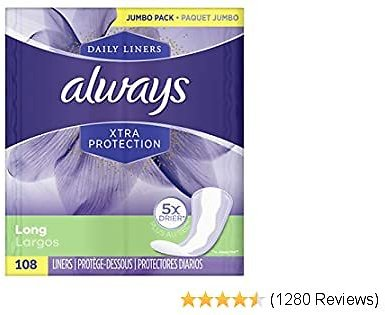 30% OFF Always Xtra Protection Long Daily Liners Unscented 108 Count