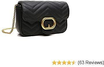 CrossLandy Quilted Crossbody Bag for Women Purse with Chain Strap Shoulder Handbags