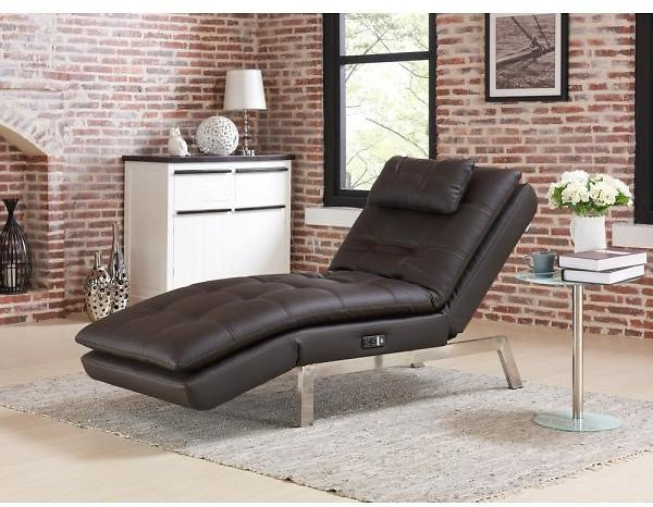 Relax A Lounger Arnold Faux Leather Convertible Chaise Lounge