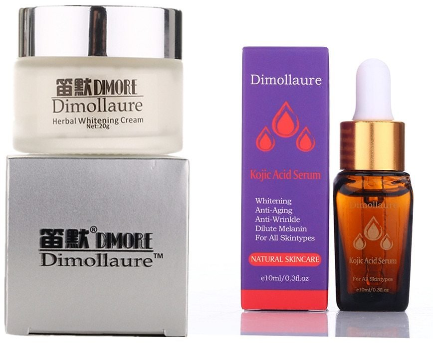 US $8.99 50% OFF|Dimollaure Strong Effect Whitening Cream +Kojic Acid Serum Remove Freckle Melasma Pigment Melanin Sunburn Acne Scars Brown Spot|Facial Self Tanners & Bronzers| - AliExpress
