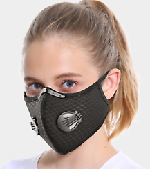 Cycling Protective Mask Face Cover Haze Fog Mouth Mask Air Purifying+5 Filter