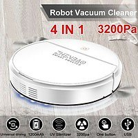 2021 NEWEST 4 IN 1 Smart Vacuum Cleaner Auto Floor Sweeper Rechargeable Automatic UV Disinfection Floor Sweeping Robot | Wish