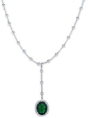 Macy's Simulated Cubic Zirconia Oval Drop