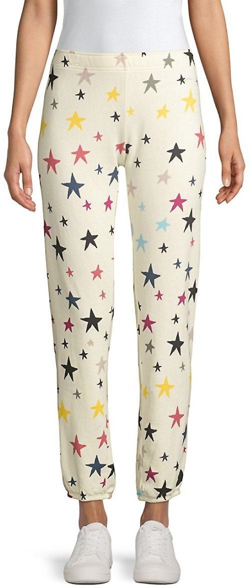Monrow Multicolor Stars Sweatpants On SALE