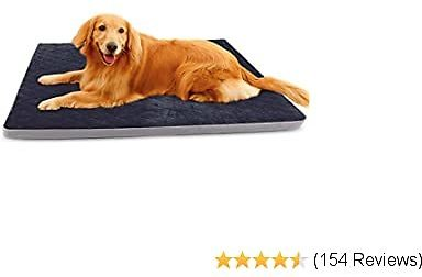 Save 40% Large Dog Bed Mat Crate Pad Soft Pet Beds with Removable Cover Washable Anti Slip Pet Sleeping Mattress for Travel