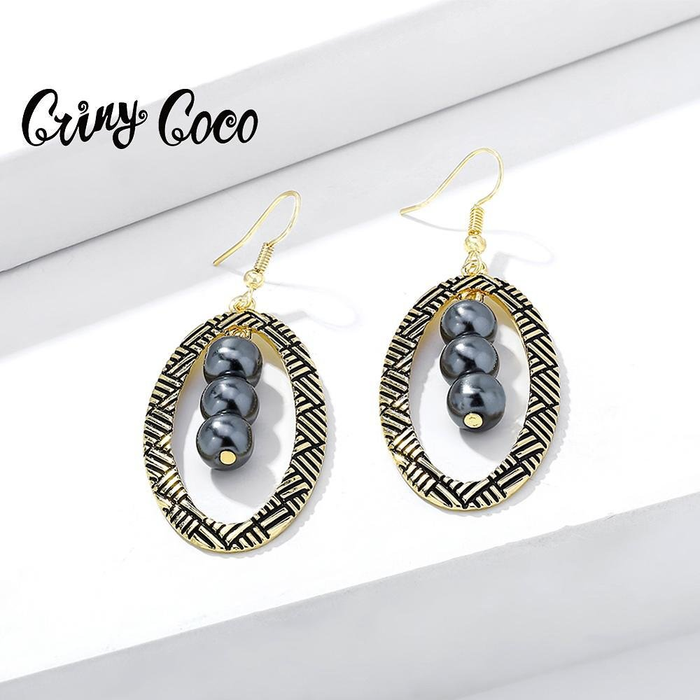 US $2.99 30% OFF|Cring Coco Hawaiian Geometric Drop Earrings Classic Alloy Metal Big Creative Trendy Bridal Party Jewelry Earring for Women Girls|Drop Earrings| - AliExpress