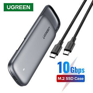 Ugreen M2 SSD Case M.2 USB NVME Enclosure Type C 3.1 Hard Drive Disk Box for M2