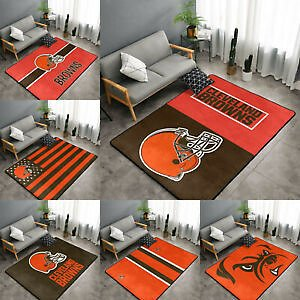 Cleveland Browns Soft Area Rugs Nonslip Velvet Home Room Carpet Floor Mat Rug