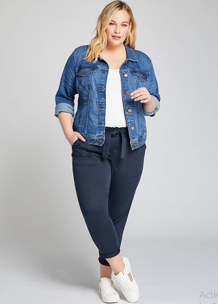 Pull-On Belted Cargo Crop Pant | Lane Bryant