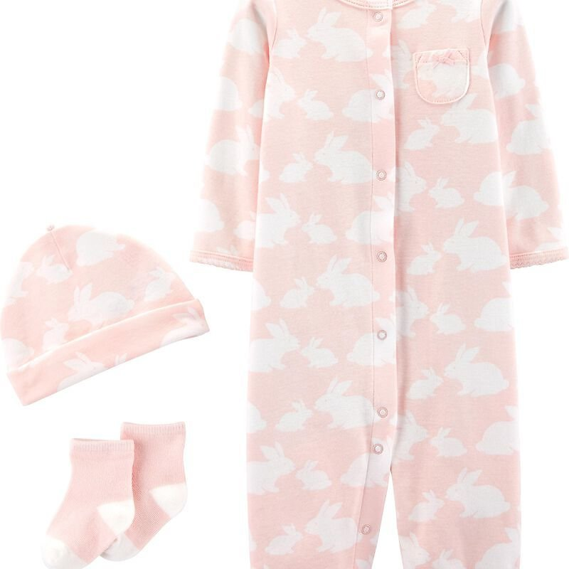 3-Piece Bunny Take-Me-Home Converter Gown Set
