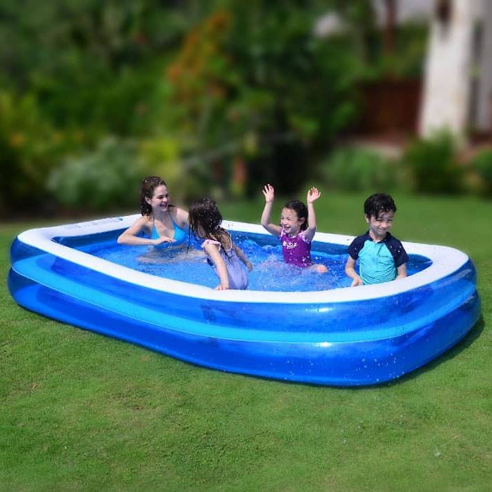 10 Foot Inflatable Backyard Family Swimming Pool