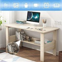 Home Desktop Computer Desk,Simple Modern PC Laptop Writing Study Table with Storage Shelves Gaming Computer Table Workstation Desktop for Home Office Furniture   Wish