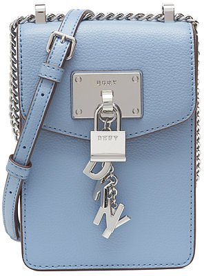 DKNY Elissa Pebble Leather Charm Chain Strap Crossbody, Created for Macy's & Reviews - Handbags & Accessories