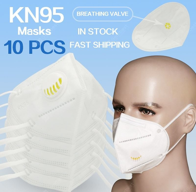 Kn95 Masks Fast Shipping With Breathing Valve Mask Dust Mask Ordinary Non-medical Masks Sale, Price & Reviews   Gearbest