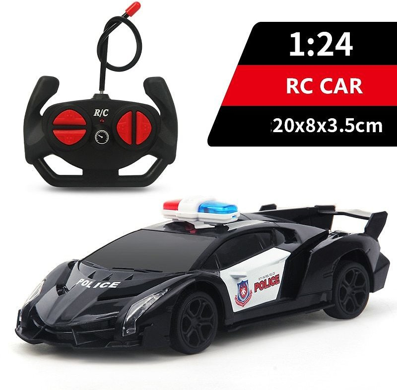US $13.27 63% OFF|RC Toys Racing Police 1:24 Remote Control Car for Kids Xmas Birthday Gifts Light Electric Carro Juguetes Chidlren Toys for Boys|RC Cars| - AliExpress