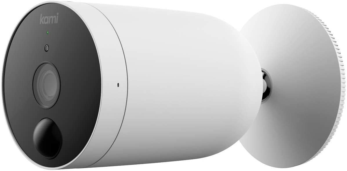 Kami Wireless Outdoor Security Camera, 1080P Wire-Free Battery-Powered Home Surveillance System