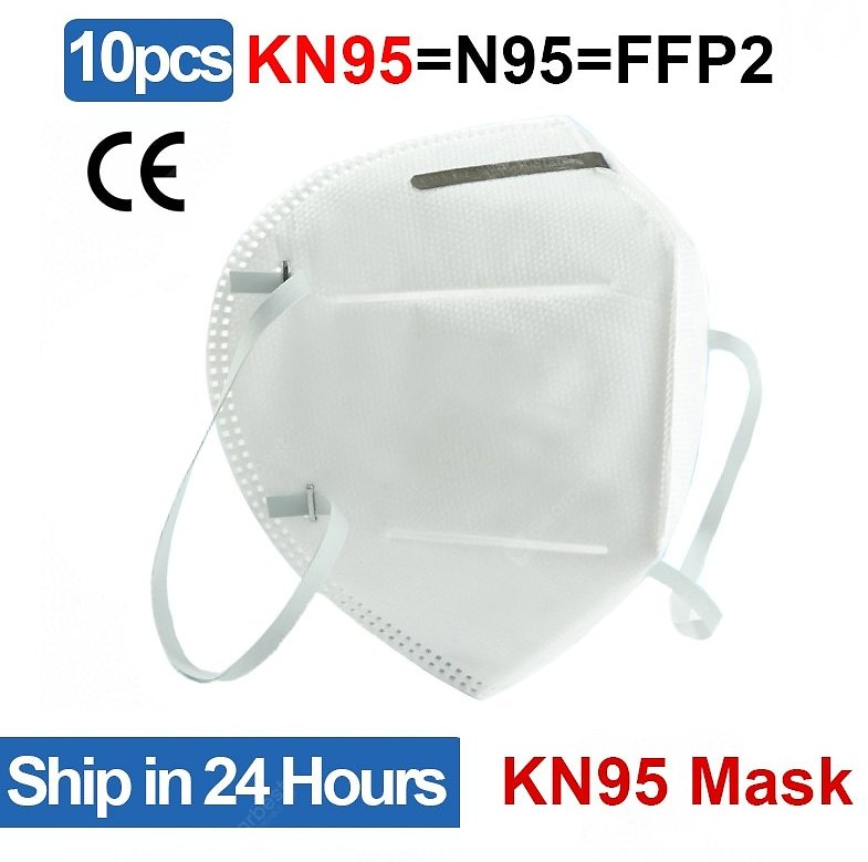 10pcs KN95 Protective Mask N95 FFP2 Dust-proof Disposable Face Mask Respirator Sale, Price & Reviews | Gearbest