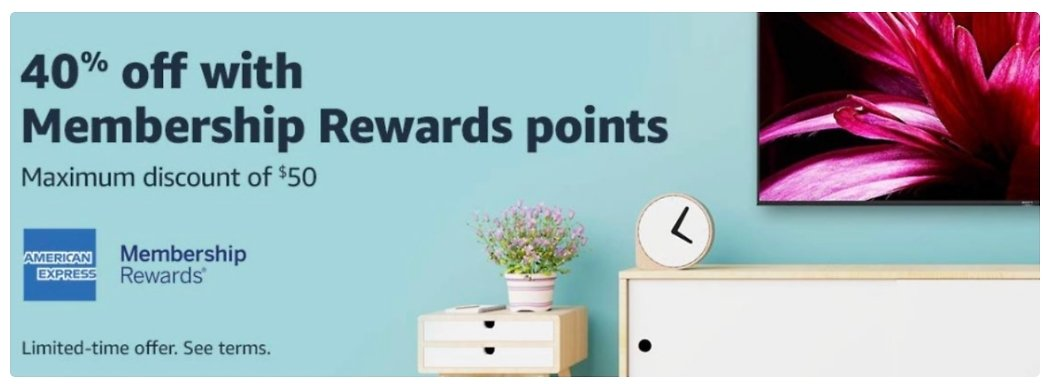 Up to $50 off your next Amazon order with 1 single Amex point (targeted