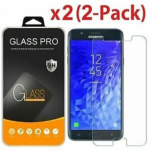 2-Pack For Samsung Galaxy J3 2018/Achieve/Aura Tempered Glass Screen Protector
