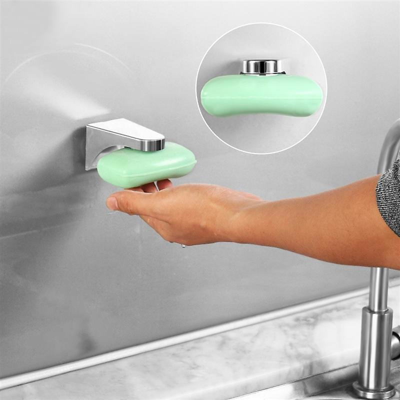 US $2.3 44% OFF|OUNONA Bathroom Magnetic Soap Holder Soap Holder Wall Mount Soap Container Dispenser Wall Attachment Bathroom Soap Dish Rack|Portable Soap Dishes| - AliExpress
