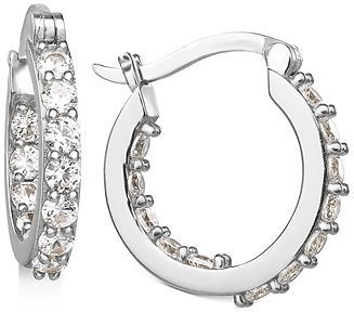 78% Off Giani Bernini Small Cubic Zirconia In & Out Hoop Earrings in Sterling Silver, 0.74