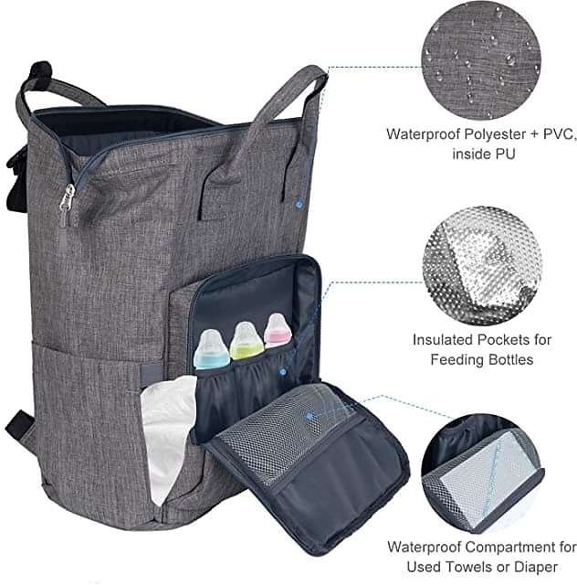 Diaper Backpack With USB Charging Port