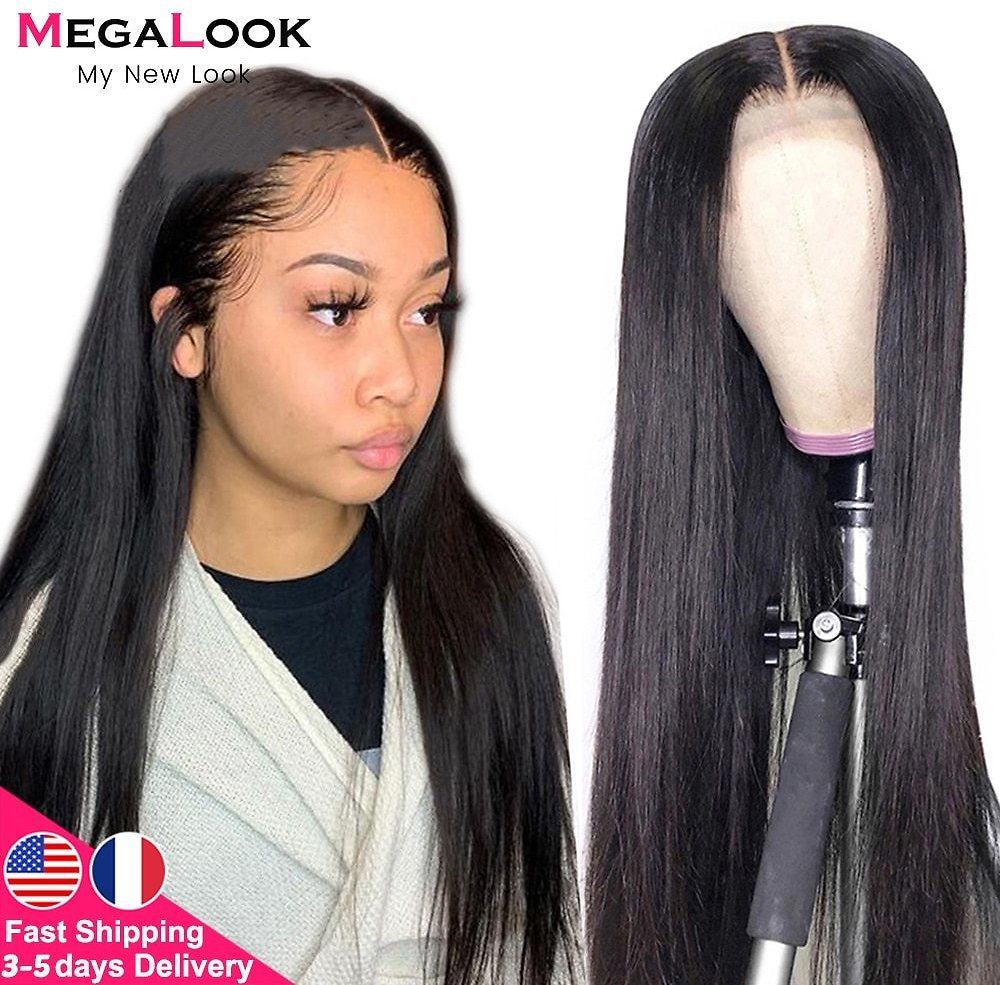 Lace Closure Wig 4x4 6x6 Closure Wig Straight Lace Front Wig 180 Remy 30 Inch Lace Wig Brazilian Human Hair Wig Lace Closure Wig