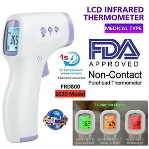Infrared Digital Forehead Thermometer Touchless Baby Adult Temperature Gun IO