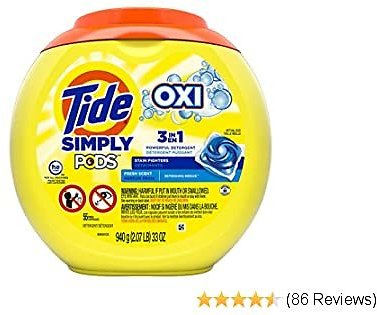 55-Ct. Tide Simply Pods + oxi Liquid Laundry Detergent Pacs