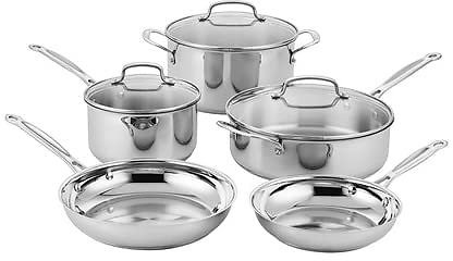 Cuisinart Stainless 8-Piece Cookware Set - $89.99 - Free Shipping for Prime Members