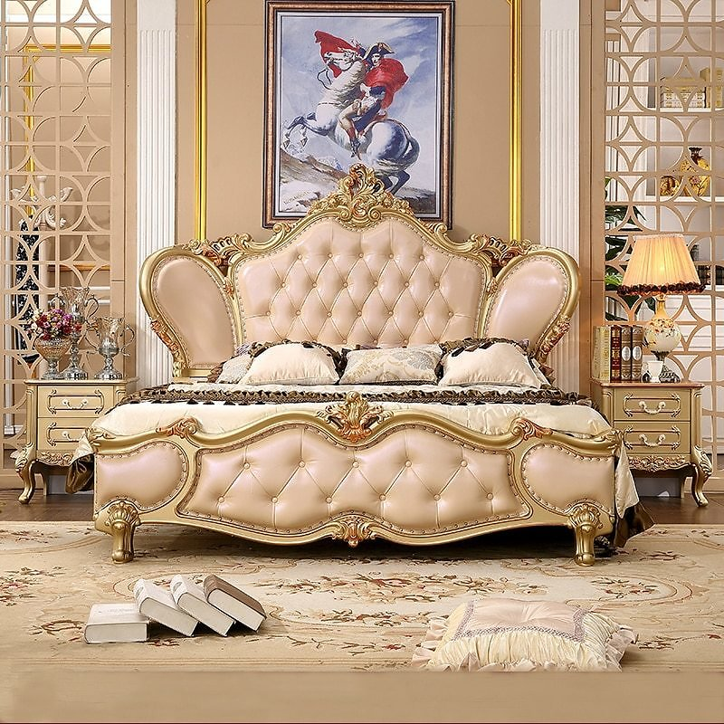 Princess Style Bed European High End Bedroom High End Atmosphere Luxury Furniture Combination Master Bedroom