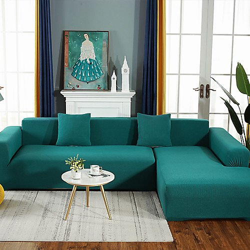 Sofa Cover Solid Colored / Contemporary Reactive Print Polyester Slipcovers