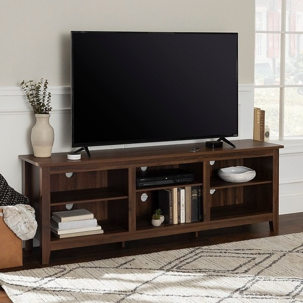 70-inch TV Stand Console with Adjustable Shelving