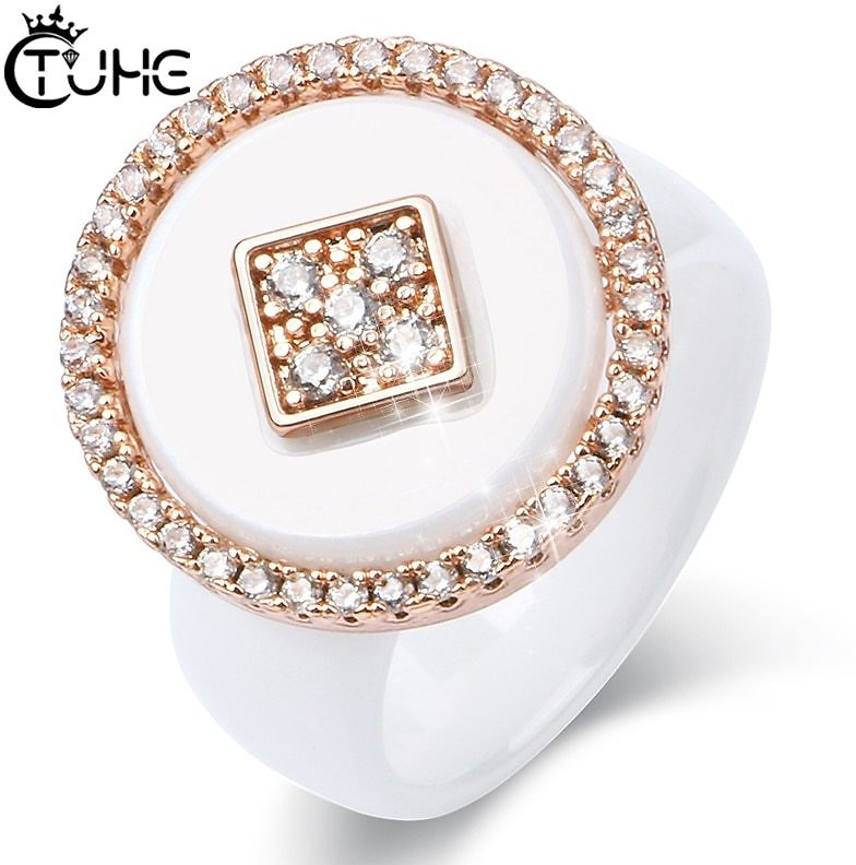 US $4.32 74% OFF New Big Oversize Women Rings Healthy Comforfit Never Fade Color Fashion Jewelry Gift CZ Crystal Women Rings Chrismas Gift Rings  - AliExpress