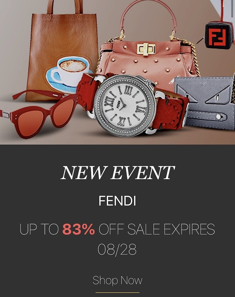 Up to 83% Off Dale Event! Fendi Doorbuster Event