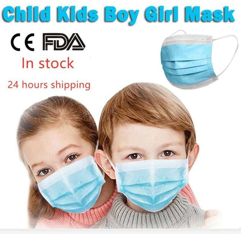Children Masks 3 Layer Non-Woven Mouth Mask Anti-Flu Kids Non-medical Disposable Mask PM2.5 Sale, Price & Reviews | Gearbest