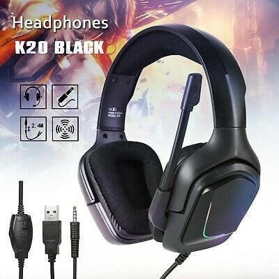 3.5mm Gaming Headset Mic LED Headphones Stereo Surround for PS4 Xbox One 360