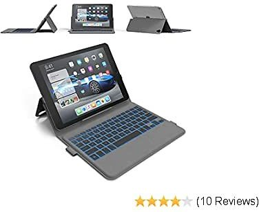 IPad Pro 11 Keyboard Case (2018) - Thin & Light - Backlit 7 Color - Infinite Hinge - Auto Sleep/Wake - IPad Pro 11 3rd Generation Case with Keyboard - A1980 - A2013- A1934 - A1979 (Grey)