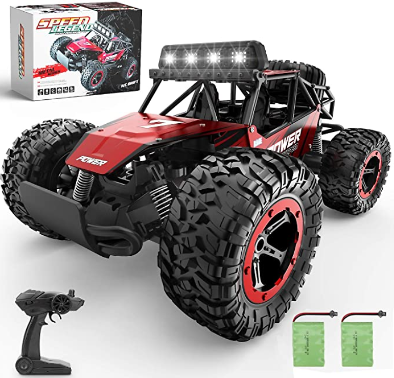 BEZGAR 17 Toy Grade 1:14 Scale Remote Control Car, 2WD High Speed 20 Km/h All Terrains Electric Toy