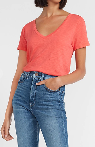 Slub V-Neck Easy Tee (6 Colors)