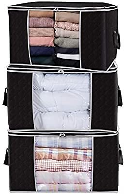 Lifewit Large Capacity Clothes Storage Bag Organizer with Reinforced Handle Thick Fabric for Comforters, Blankets, Bedding, Fold