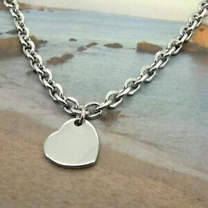 Women Ankle Bracelet Stainless Steel Anklets Heart Charm 9-11 Inches