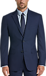 Kenneth Cole Blue Check Slim Fit Suit