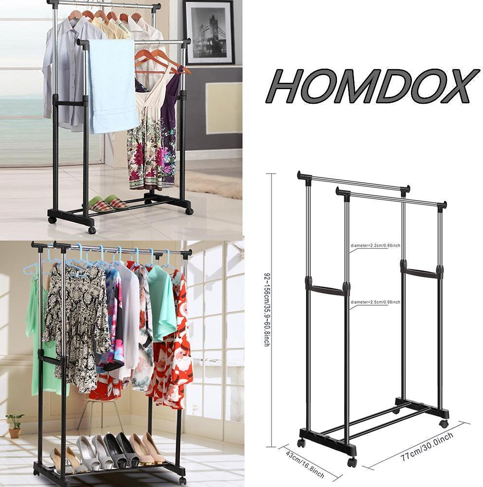 Clothes-Drying-Rack-Portable-Laundry-Hanger-With-Rolling-Lockable-Casters/280067569