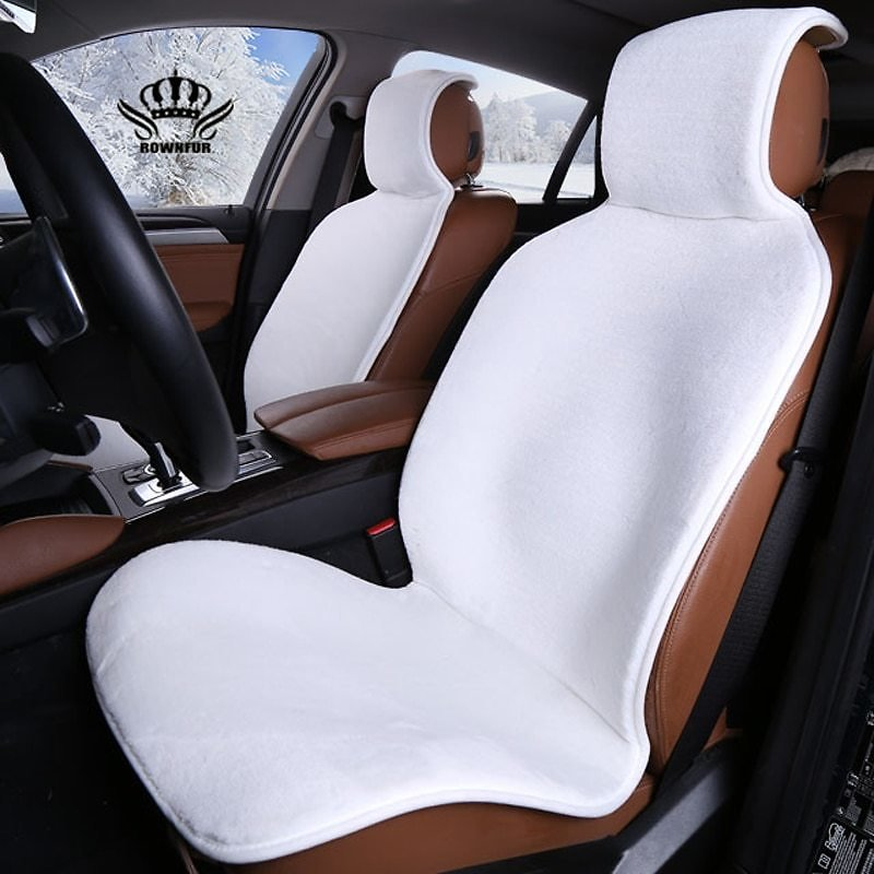 US $17.0 32% OFF|Faux Fur Car Seat Cover Winter White Universal Automotive Interior Artificial Fur Car Seat Cushion For Toyota BMW Kia Mazda Ford|car Seat Cover|seat Coverinterior Accessories - AliExpress
