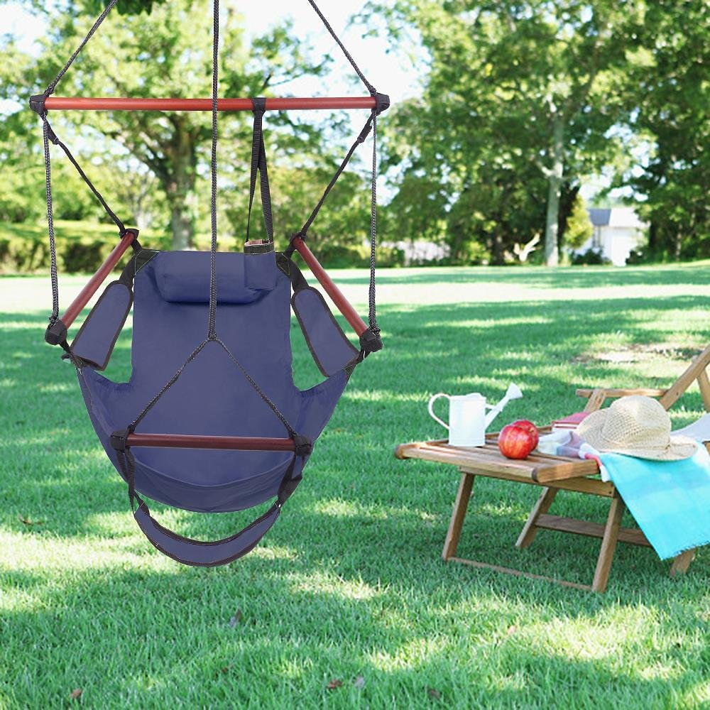 Ktaxon Deluxe Air Hammock Hanging Patio Tree Sky Swing Chair Outdoor Porch Lounge Green
