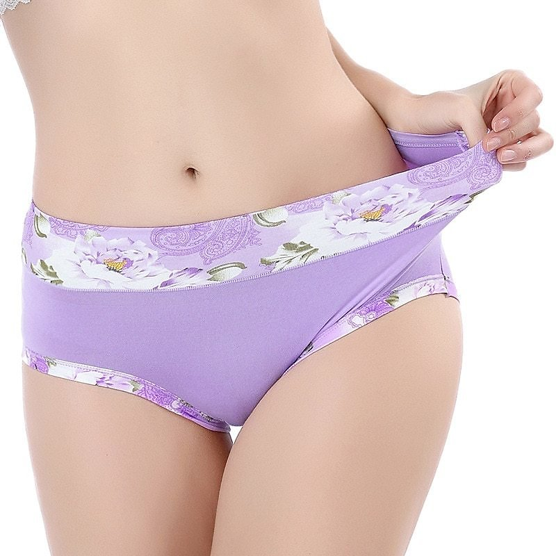 Panties For Women Underwear Sexy Lingerie Flowers Women Modal Panty Soft Underpant Lady Briefs Femme Everyday 2020 New