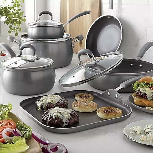60% Off! Cooks Contour Belly Diamond 10-PC. Cookware Set + F/S