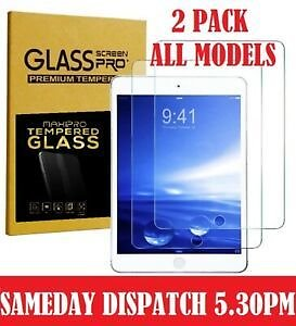 2 PACK TEMPERED GLASS SCREEN PROTECTOR APPLE IPAD 2/3/4 MINI 2/3/4 11
